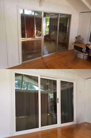 Custom vinyl patio door installations in Wisconsin